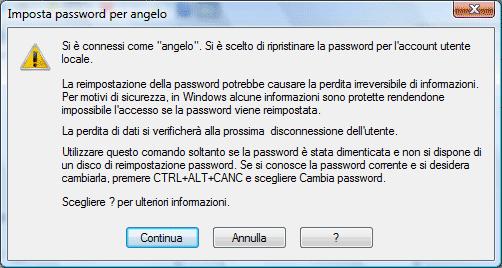 how to change password on vista
